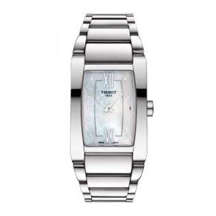 [Official Warranty] Tissot T105.309.11.116.00 Women's Generosi-T White Mother of Pearl Stainless Steel Strap Watch (watch for women / jam tangan perumpuan / tissot watch for women / tissot watch / women watch)