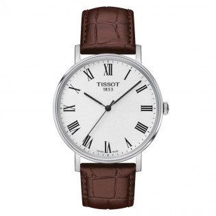 [Official Warranty] Tissot T109.410.16.033.00 Men's Everytime Medium Brown Leather Strap Watch (watch for men / jam tangan lelaki / tissot watch for men / tissot watch / men watch)
