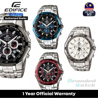 [Official Warranty] Casio Edifice EF-540 Series Men's Stainless Steel Analog Chronograph Black Dial Watch EF-540D-1A EF-540D-1A2 EF-540D-1A4 EF-540D-7A