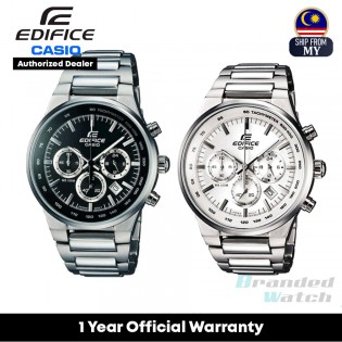 [Official Warranty] Casio Edifice EF-500 Series Men's Chronograph Stainless Steel Band 100-Meter EF-500BP-1A EF-500BP-7A