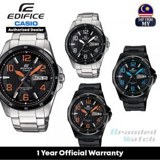 [Official Warranty] Casio Edifice EF-132 Series Men's Analog Quartz Stainless Steel Strap Watch EF-132D-1A4 EF-132D-1A7 EF-132PB-1A2 EF-132PB-1A4