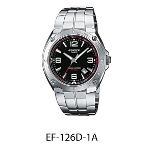 [Official Warranty] Casio Edifice EF-126 Series Men's Analog Quartz Stainless Steel Strap Watch EF-126D-1A EF-126D-2A EF-126D-7A