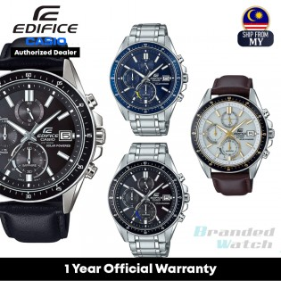 [Official Warranty] Casio Edifice EFS-S510 Series Men's Solar Powered Chronograph Leather Stainless Steel Strap Watch EFS-S510D-1A EFS-S510D-2A EFS-S510L-1A EFS-S510L-7A