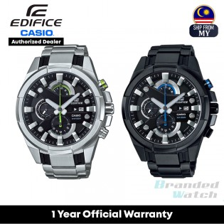 [Official Warranty] Casio Edifice EFR-540 Series Men's Chronograph Quartz Stainless Steel Strap Watch EFR-540BK-1A EFR-540D-1A