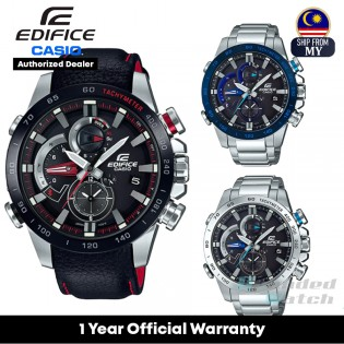 [Official Warranty] Casio Edifice EQB-800 Series Men's Smartphone Link Black Dial Leather Stainless Steel Strap Watch EQB-800BL-1A EQB-800D-1A EQB-800DB-1A
