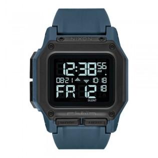 [Official Warranty] Nixon A11802889 Men's Regulus Dark Slate 46mm Silicone Strap Watch (watch for men / jam tangan lelaki / nixon watch for men  / men watch)