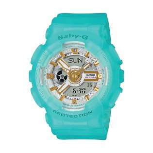 [Official Warranty] Casio Baby-G BA-110SC-2A Women's Special Color Models Sea Glass Watch (watch for women / jam tangan perumpuan / casio baby-g watch for women / casio baby-g watch / women watch)