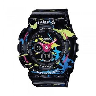 [Official Warranty] Casio Baby-G BA-120SPL-1A Women's Digital Analog Black Strap Watch (watch for women / jam tangan perumpuan / casio baby-g watch for women / casio baby-g watch / women watch)
