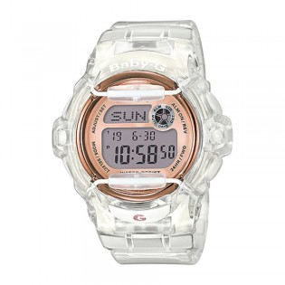 [Official Warranty] Casio Baby-G BG-169G-7B Women's Digital White Transparent Resin Watch (watch for women / jam tangan perumpuan / casio baby-g watch for women / casio baby-g watch / women watch)