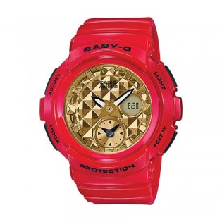 [Official Warranty] Casio Baby-G BGA-195VLA-4A Women's Digital Analog 2018 CNY Limited Edition Glossy Red Gold Strap Watch (watch for women / jam tangan perumpuan / casio baby-g watch for women / casio baby-g watch / women watch)