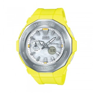 [Official Warranty] Casio Baby-G BGA-225-9A Women's Digital Analog Yellow Strap Watch (watch for women / jam tangan perumpuan / casio baby-g watch for women / casio baby-g watch / women watch)