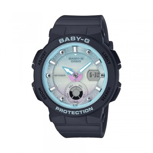[Official Warranty] Casio Baby-G BGA-250-1A2 Women's Digital Analog Blue Dial Black Strap Watch (watch for women / jam tangan perumpuan / casio baby-g watch for women / casio baby-g watch / women watch)