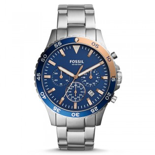 Fossil CH3059 Men's Crewmaster Sport Chronograph Steel Watch