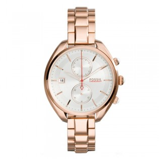 Fossil CH2977 Women's Land Racer Chronograph Rose Gold Steel Watch