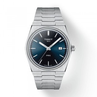 [Officail Warranty] Tissot T137.410.11.041.00 Men's Tissot PRX Blue Dial Stainless Steel Strap Watch (watch for men / jam tangan lelaki / tissot watch for men / tissot watch / men watch)
