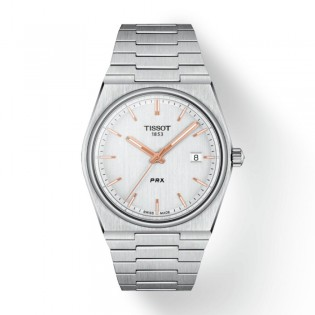 [Officail Warranty] Tissot T137.410.11.031.00 Men's Tissot PRX White Dial Stainless Steel Strap Watch (watch for men / jam tangan lelaki / tissot watch for men / tissot watch / men watch)