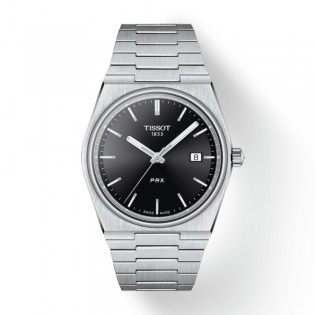 [Officail Warranty] Tissot T137.410.11.051.00 Men's Tissot PRX Black Dial Stainless Steel Strap Watch (watch for men / jam tangan lelaki / tissot watch for men / tissot watch / men watch)