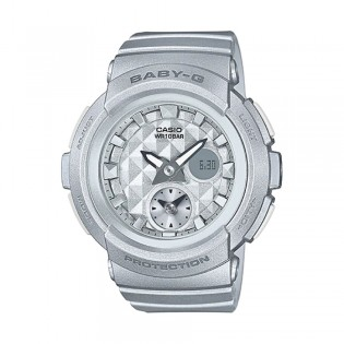 [Official Warranty] Casio Baby-G BGA-195-8A Women's Digital Analog Grey Strap Watch (watch for women / jam tangan perumpuan / casio baby-g watch for women / casio baby-g watch / women watch)