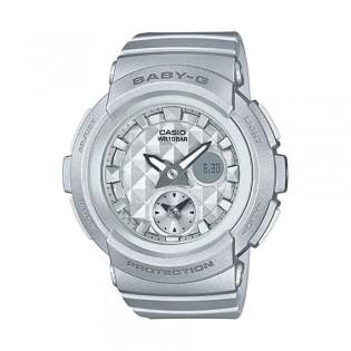 [Official Warranty] Casio Baby-G BGA-195-8A Women's Digital Analog Grey Strap Watch (watch for women / jam tangan perumpuan / casio baby-g watch for women / casio baby-g watch / women watch)