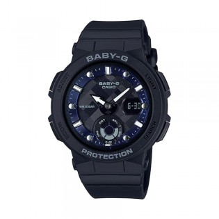 [Official Warranty] Casio Baby-G BGA-250-1A Women's Digital Analog Black Strap Watch (watch for women / jam tangan perumpuan / casio baby-g watch for women / casio baby-g watch / women watch)