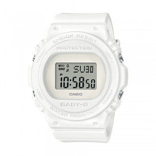 [Official Warranty] Casio Baby-G BGD-570-7D Women's Digital White Strap Watch (watch for women / jam tangan perumpuan / casio baby-g watch for women / casio baby-g watch / women watch)