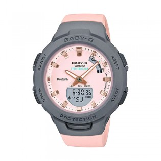 [Official Warranty] Casio Baby-G BSA-B100MC-4A Women's Digital Analog Sport Pink Strap Watch (watch for women / jam tangan perumpuan / casio baby-g watch for women / casio baby-g watch / women watch)