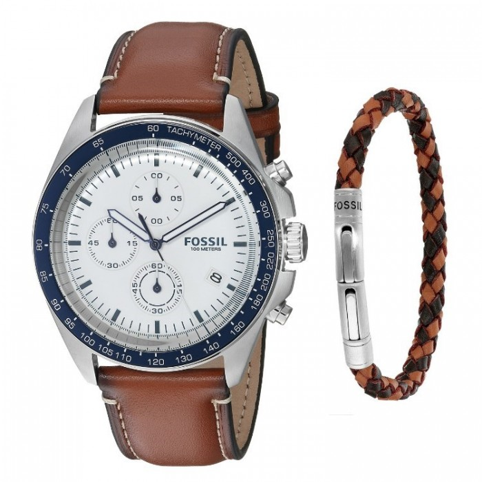 how to set fossil chronograph