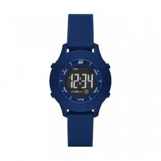 [100% Original] Skechers SR6202 Women's Analog Quartz Blue Silicone Strap Watch