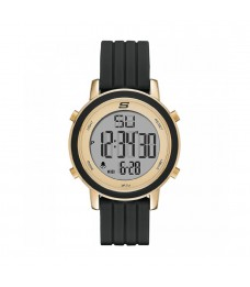 [100% Original] Skechers SR6206 Women's Digital Quartz Black Silicone Strap Watch