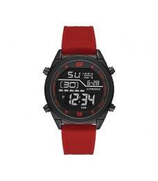 [100% Original] Skechers SR5146 Men's Digital Quartz Red Silicone Strap Watch