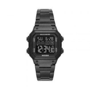 [100% Original] Skechers SR5132 Men's Hosford Digital Quartz Black Stainless Steel Strap Watch