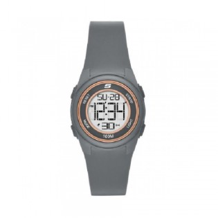 [100% Original] Skechers SR2105 Women's Vicksburg Digital Quartz Grey Silicone Strap Watch