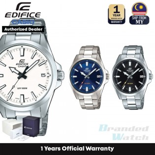 [Official Warranty] Casio Edifice EFV-100D Series Men's Analog Quartz Stainless Steel Strap Watch EFV-100D-1A EFV-100D-2A EFV-100D-7A