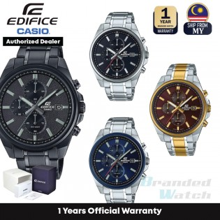 [Official Warranty] Casio Edifice EFV-610 Series Men's Chronograph Quartz Stainless Steel Strap Watch EFV-610D-1A EFV-610DB-2A EFV-610DC-1A EFV-61SG-5A