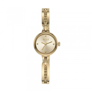 [Official Warranty] Elle ELL21002 Women's Wagram Three-Hand Gold Stainless Steel Watch (watch for women / jam tangan perumpuan / elle watch for women / elle watch / women watch)