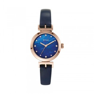 [Official Warranty] Elle ELL21005 Women's Odeon Three-Hand Blue Leather Watch (watch for women / jam tangan perumpuan / elle watch for women / elle watch / women watch)