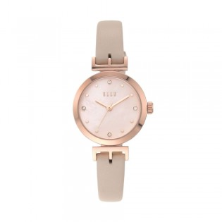 [Official Warranty] Elle ELL21006 Women's Odeon Three-Hand Pink Leather Watch (watch for women / jam tangan perumpuan / elle watch for women / elle watch / women watch)