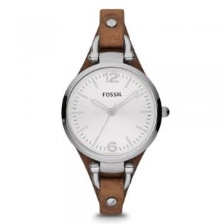 Fossil ES3060 Women's Georgia Quartz Brown Leather Watch