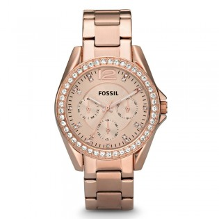 Fossil ES2811 Women's Riley Multifunction Rose Gold Watch