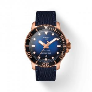 [Official Warranty] Tissot T120.407.37.041.00 Men's Seastar 1000 Powermatic 80 Blue Dial Fabric Strap Watch (watch for men / jam tangan lelaki / tissot watch for men / tissot watch / men watch)