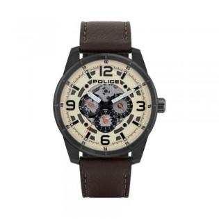 [100% Original] Police PL15663JSU/14 Men's Lawrence Brown Leather Strap Watch (watch for man / jam tangan lelaki / police watch for men / police watch / men watch / watch for men)