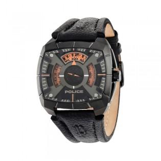 [100% Original] Police PL14796JSU/02 Men's G Force Black Leather Strap Watch (watch for man / jam tangan lelaki / police watch for men / police watch / men watch / watch for men)