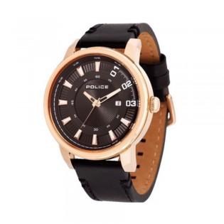 [100% Original] Police PL14375JSR/02 Men's Sunset Black Dial Black Leather Strap Watch (watch for man / jam tangan lelaki / police watch for men / police watch / men watch / watch for men)
