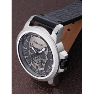 [100% Original] Police PL14385JS/57 Men's Reaper Black Dial Black Leather Strap Watch (watch for man / jam tangan lelaki / police watch for men / police watch / men watch / watch for men)