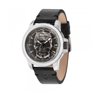 [100% Original] Police PL14385JS/57 Men's Reaper Black Dial Black Leather Strap Watch (watch for man / jam tangan lelaki / police watch for men / police watch / men watch / watch for men)
