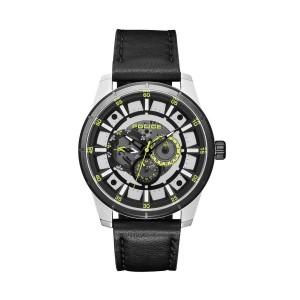[100% Original] Police PL15410JSTB/04 Men's Chronograph Black Dial Black Leather Strap Watch (watch for man / jam tangan lelaki / police watch for men / police watch / men watch / watch for men)