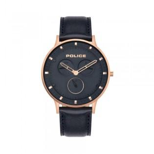 [100% Original] Police PL15968JSR/03 Men's Berkeley Blue Dial Blue Leather Strap Watch (watch for man / jam tangan lelaki / police watch for men / police watch / men watch / watch for men)