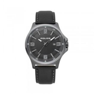 [100% Original] Police PL15384JSU/61 Men's Clan Anlaog Quartz Black Dial Black Leather Strap Watch (watch for man / jam tangan lelaki / police watch for men / police watch / men watch / watch for men)
