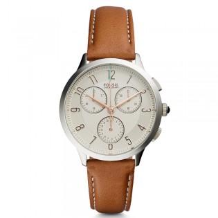 Fossil CH3014 Women's Abilene Quartz Chronograph Brown Leather Watch