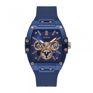 [Official Warranty] Guess GW0203G7 Men's Blue Case Multifunction Blue Dial Blue Silicone Strap Watch (watch for men / jam tangan lelaki / guess watch for men / guess watch / men watch)